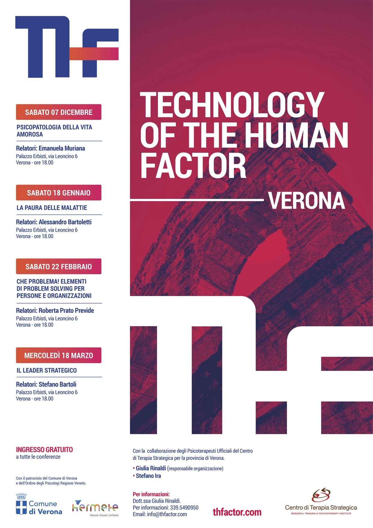 Thf Technology Of The Human Factor Ciclo Di Conferenze Verona